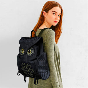Cool owl shape solid backpack - MytrendyShopping