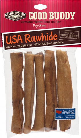 Castor and Pollux Good Buddy USA Rawhide Sticks Dog Chews