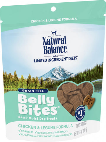 Natural Balance Belly Bites Chicken & Legume Semi-Moist Treats for Dogs