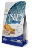 Farmina Ocean N&D Natural & Delicious Adult Cod, Spelt, Oats & Orange Dry Cat Food