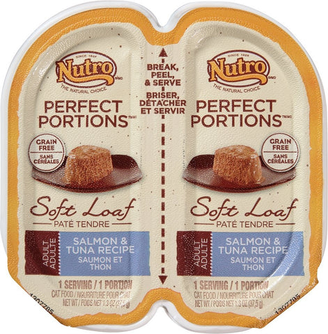 Nutro Perfect Portions Grain-Free Salmon & Tuna Recipe Cat Food Trays