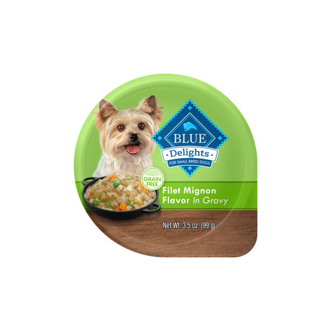 Blue Buffalo Blue Delights Small Breed Filet Mignon in Gravy Dog  Food Cup