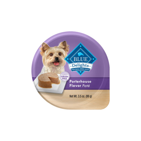 Blue Buffalo Blue Delights Small Breed Porterhouse Pate Dog Food Cup