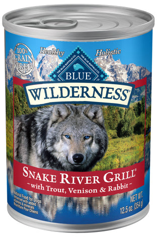 Blue Buffalo Wilderness Grain Free Snake River Grill Trout, Venison & Rabbit Canned Dog Food