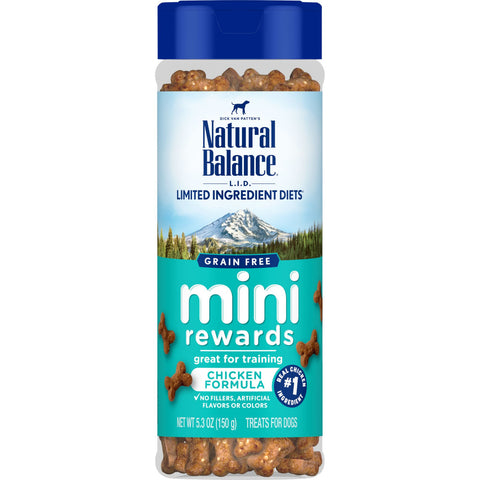 Natural Balance L.I.D Grain Free Mini Rewards Chicken Recipe Dog Training Treats