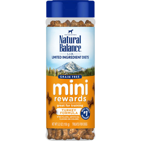Natural Balance L.I.D Mini Rewards Soft & Chewy Turkey Recipe Dog Treats