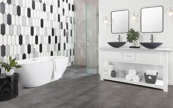 Mixing and Matching Tiles and Paint in Your Bathroom