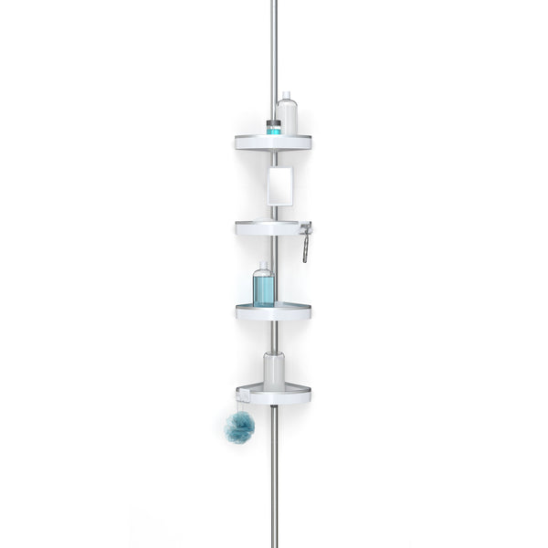 HiRISE 4 Tension Shower Caddy with Mirror - Better Living Products USA