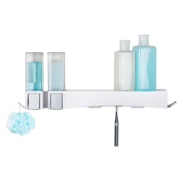 CLEVER Double Shower Dispenser + Shower Shelf - Better Living Products USA