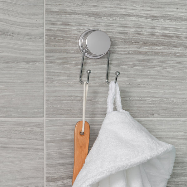 STICK 'N LOCK PLUS Double Robe Hook - Better Living Products USA