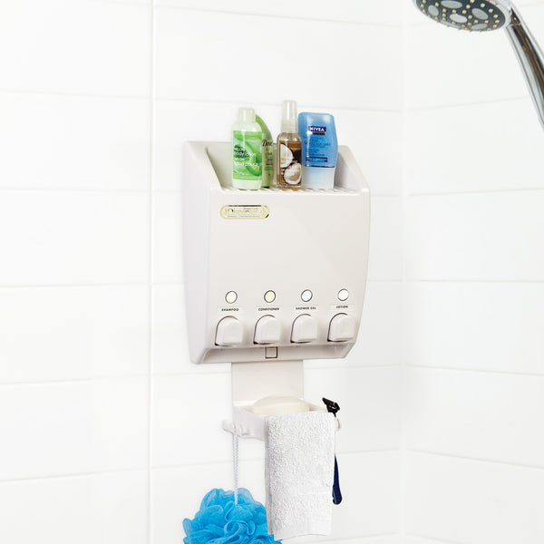 ULTI-MATE Dispenser 4 Chamber Shower Caddy - Better Living Products USA