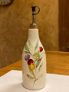 Ceramic Cruet - Olive Wreath