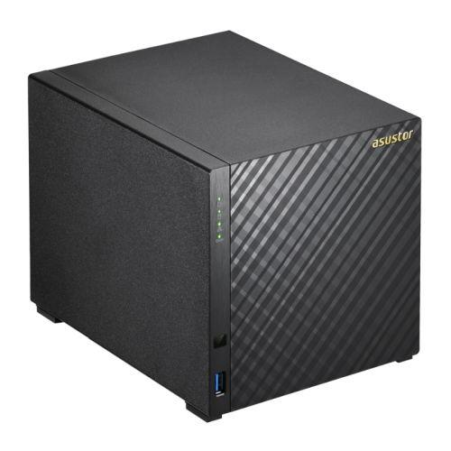 ASUSTOR AS3204T V2 4-Bay NAS Enclosure (No Drives), Quad Core CPU, 2GB DDR3L, HDMI, USB3, Dual GB LAN, Diamond-Plate Finish-Network Attached Storage-Gigante Computers
