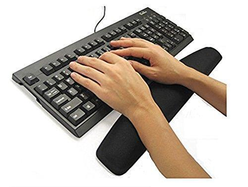 Black Gel Mouse Mat and Keyboard Wrist Support Bundle-Mouse Mats-Gigante Computers