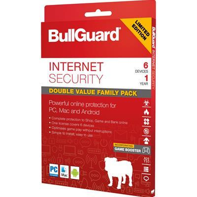 Bullguard Limited Edition Internet Security 1Year/6 Device Multi Device Retail License English-Utilities-Gigante Computers