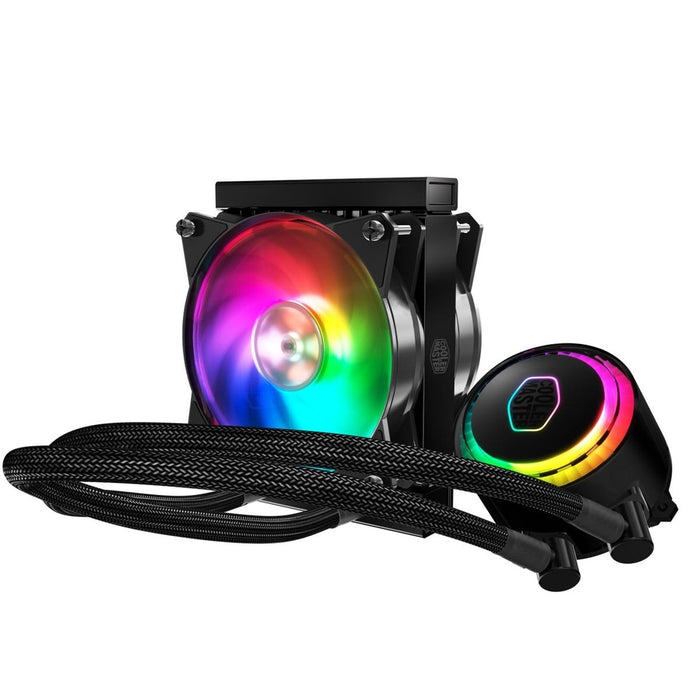Cooler Master MasterLiquid ML120R RGB Universal Socket 120mm PWM 2000RPM ARGB LED AiO Liquid CPU Cooler with Wired ARGB Controller-CPU Fans Paste-Gigante Computers