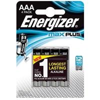 Energizer MaxPlus Pack of 4 AAA Batteries-Batteries Power Banks-Gigante Computers