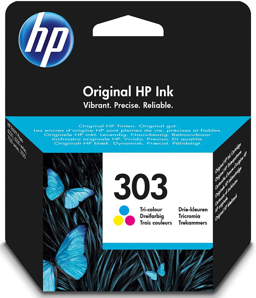 HP 303 (Yield 165 Pages) Dye-based Original Ink Cartridge (Tri-colour)-Ink Cartridges-Gigante Computers