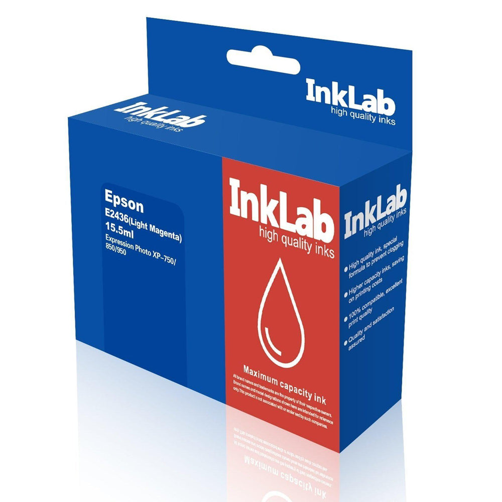 InkLab 2436 Epson Compatible Light Magenta Replacement Ink-Replacement Inks-Gigante Computers