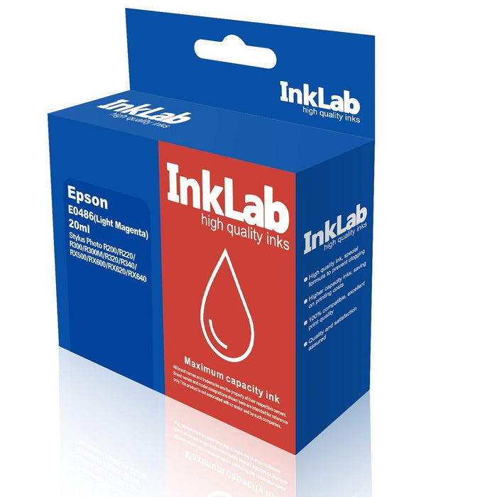 InkLab 486 Epson Compatible Light Magenta Replacement Ink-Replacement Inks-Gigante Computers
