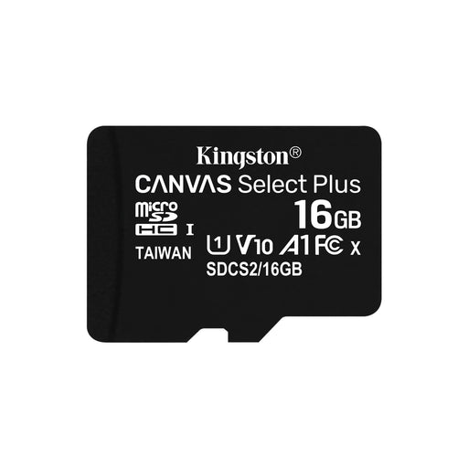 Kingston Canvas Select Plus 16GB Micro SD UHS-I Flash Card No Adapter-Flash Memory-Gigante Computers