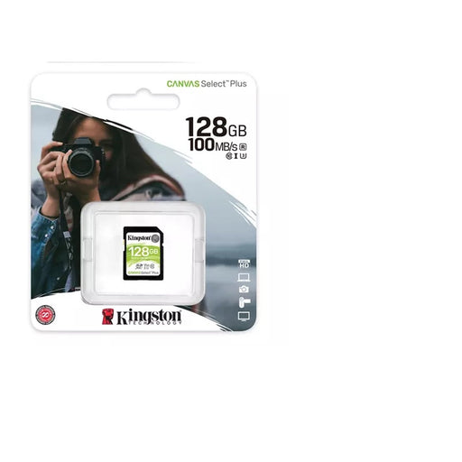 Kingston Canvas Select Plus V30 128GB SD Class 10 UHS-I U3 Flash Card-Flash Memory-Gigante Computers