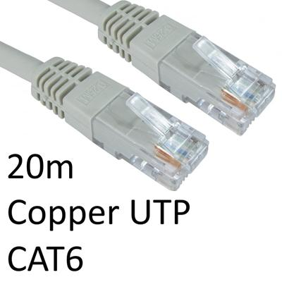 RJ45 (M) to RJ45 (M) CAT6 20m Grey OEM Moulded Boot Copper UTP Network Cable-Network Cables-Gigante Computers