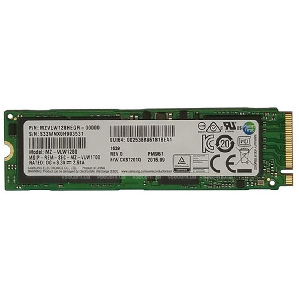 Samsung PM961 Polaris 128GB NVMe 80mm Solid State Drive-Internal Hard Drives-Gigante Computers