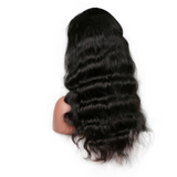 Body Wave Brazilian Virgin Human Hair Bleached Knots with Natural Hairline Wig