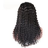 Deep Curly Brazilian Virgin Human Hair Bleached Knots with Natural Hairline Wig