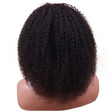 Afro Kinky Curly Brazilian Virgin Human Hair Bleached Knots with Natural Hairline Wig