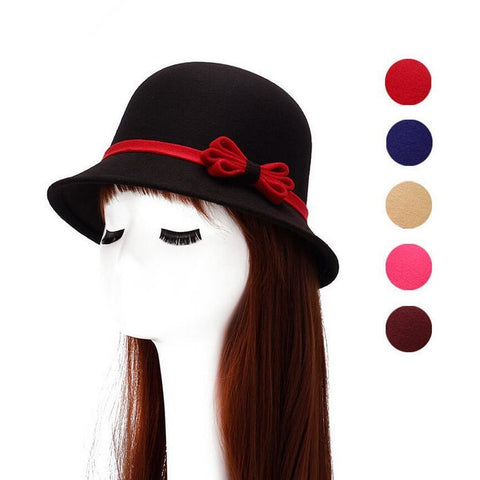 "Women""s dome fedora wool hat"