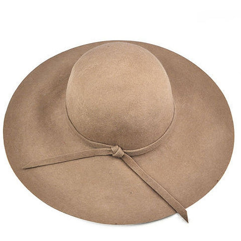 Hot NEW 100% pure wool floppy hat