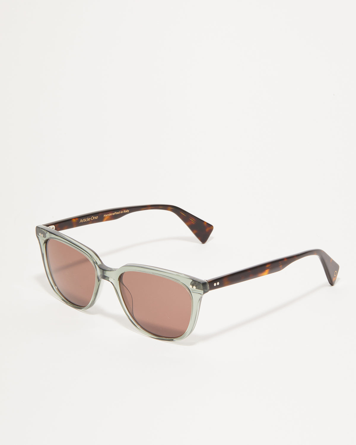 Article One Walton in Khaki Green Crystal | Tortoise