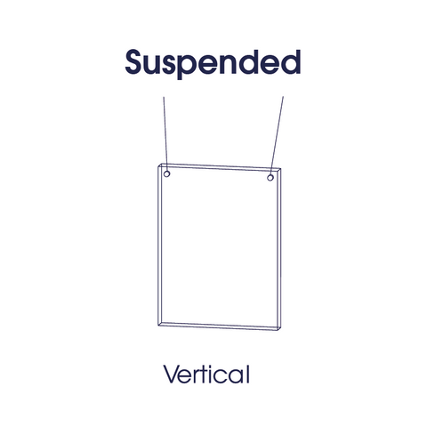 Suspended perspex protection screen