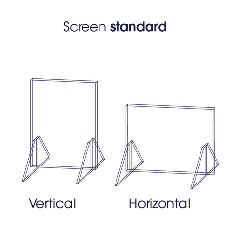 Standard perspex protection screen