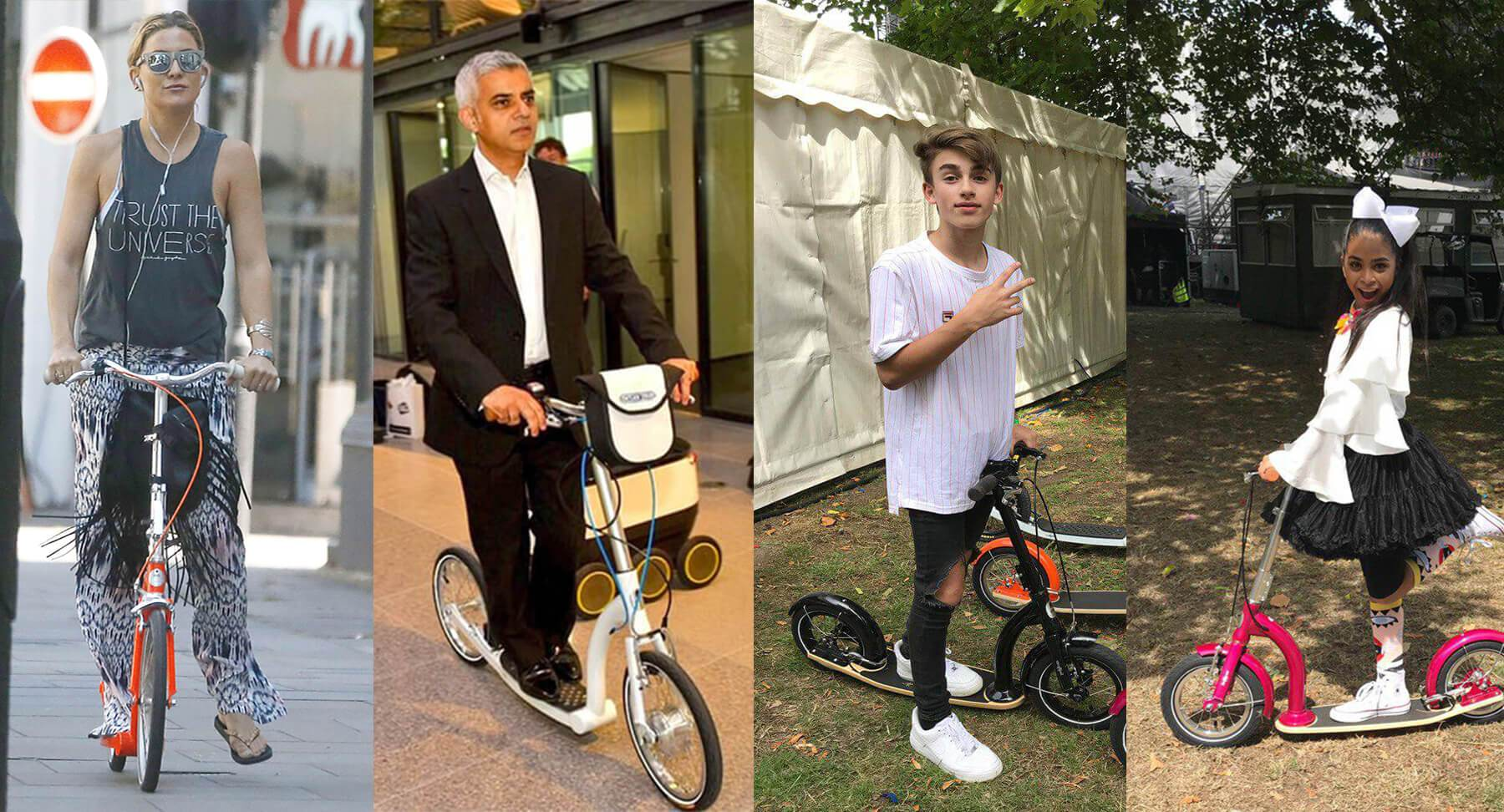 celebrity scooter, famous scooters, big wheel adult scooter