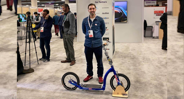 Swifty's Smart Adult Scooters at CES 2020 in Las Vegas with the UK DIT
