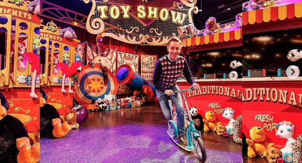 Late Late Toy Show features Swifty Scooters from Arnotts on RTE ONE, Ireland