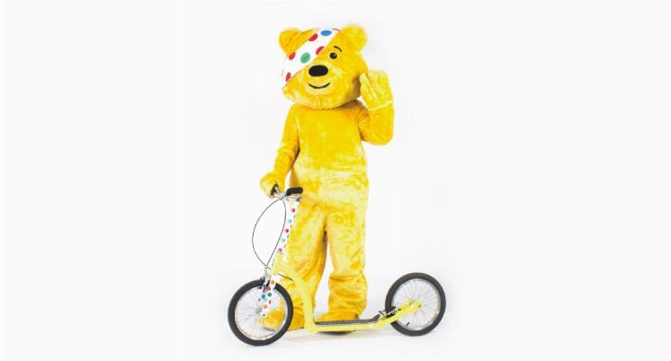 endurance solo scoot, children in need, adult scooter with big wheels