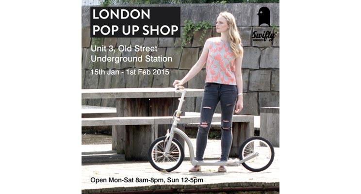 swifty scooters in london pop up shop