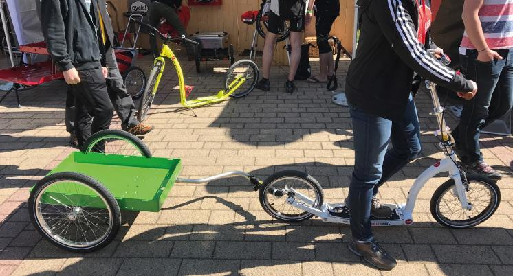 Swifty scooters at spezialradmesse 2017, adult scooters and kids scooters