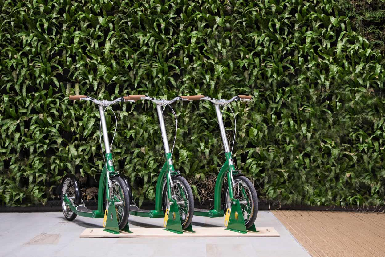 adult scooter fleet sharing for corporate businesses in urban cities