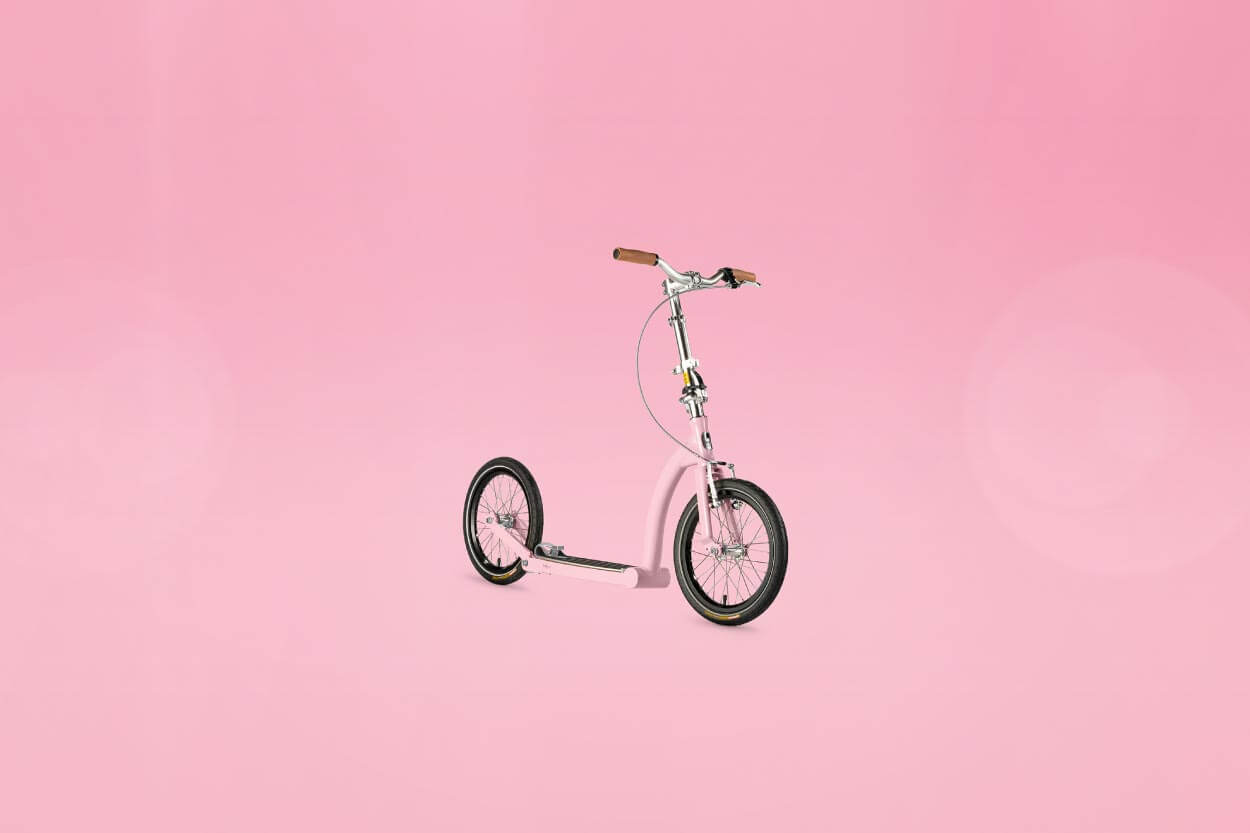 powder pink scooter february colour of the month