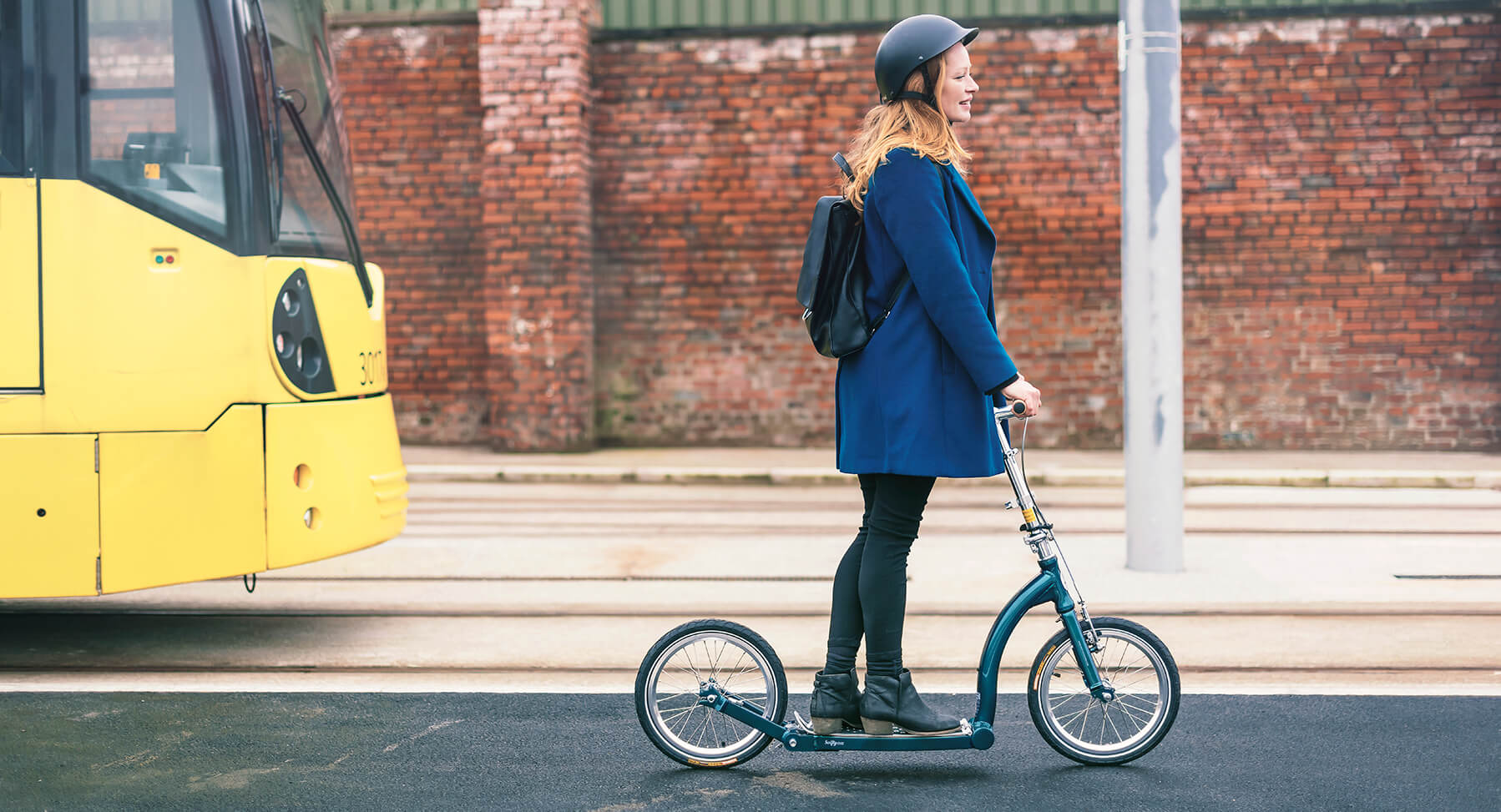folding adult scooter, commuting scooter with big wheels