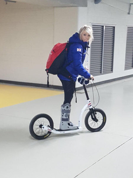Elise Christie, sport scooter, scooter for athletics