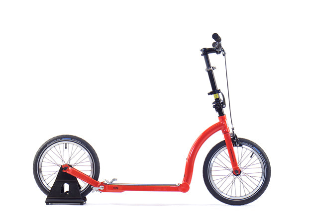 orange adult scooter, commuting scooter