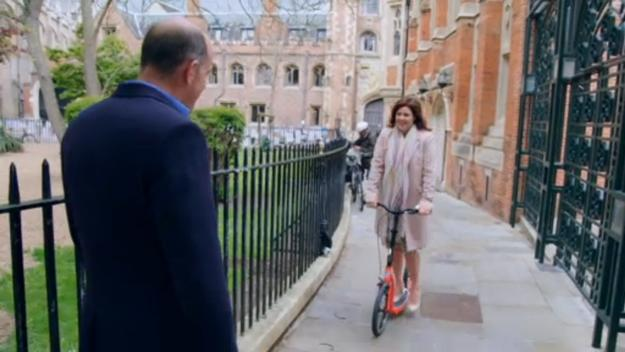 kirstie and phil, kirstie allsopp and phil spencer, adult scooter