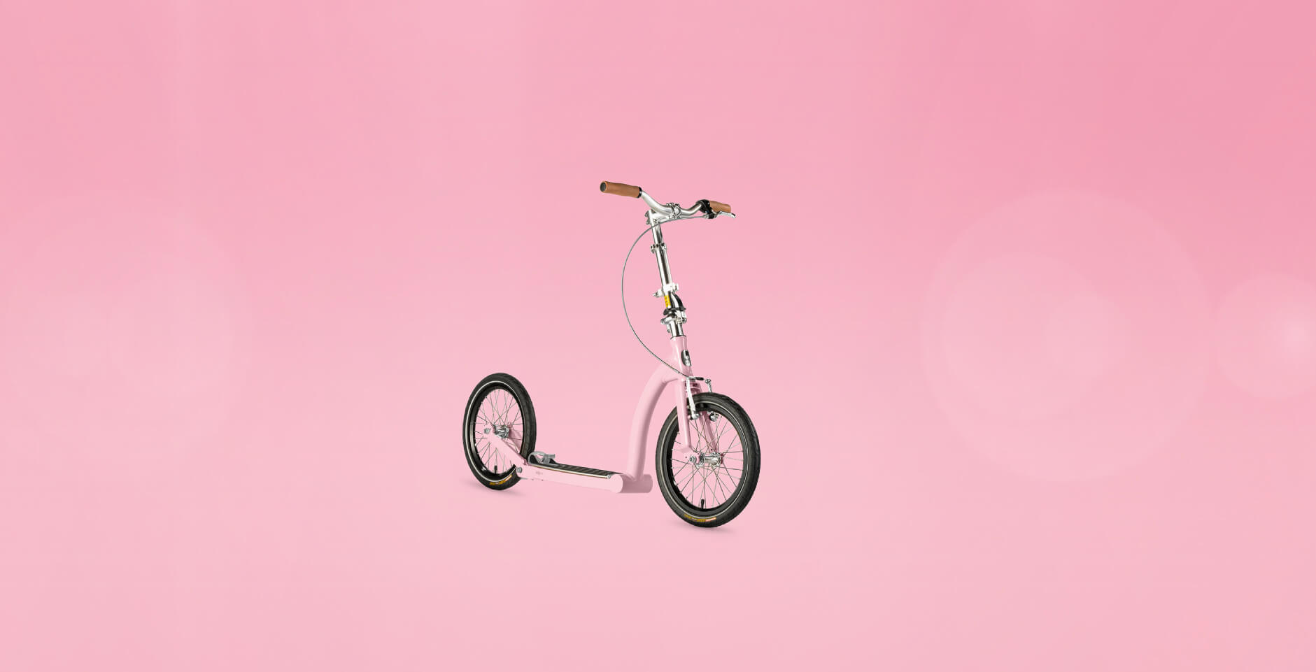 custom coloured scooter powder pink scooter