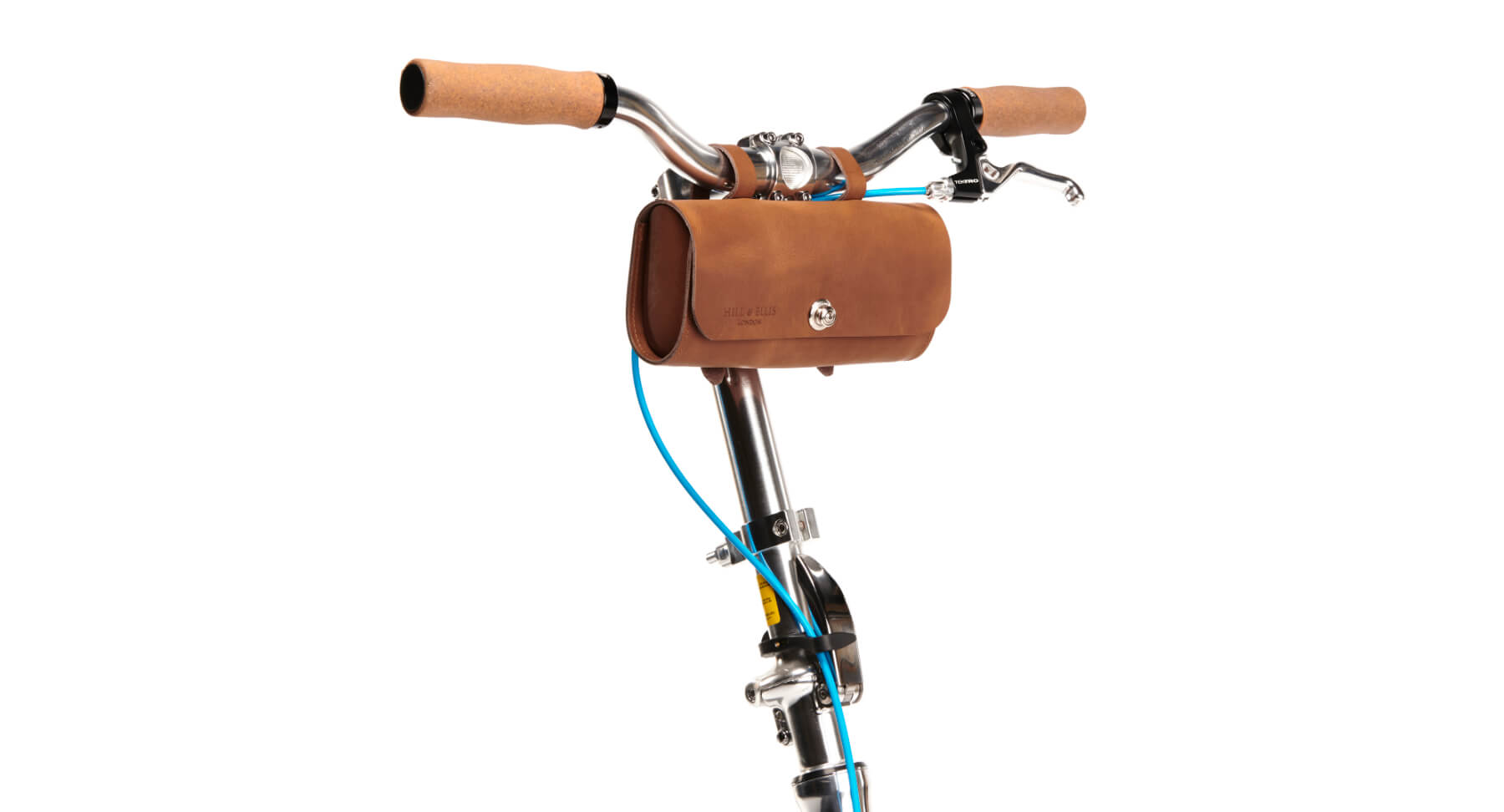 scooter bags, scooter pannier, leather handlebar bag